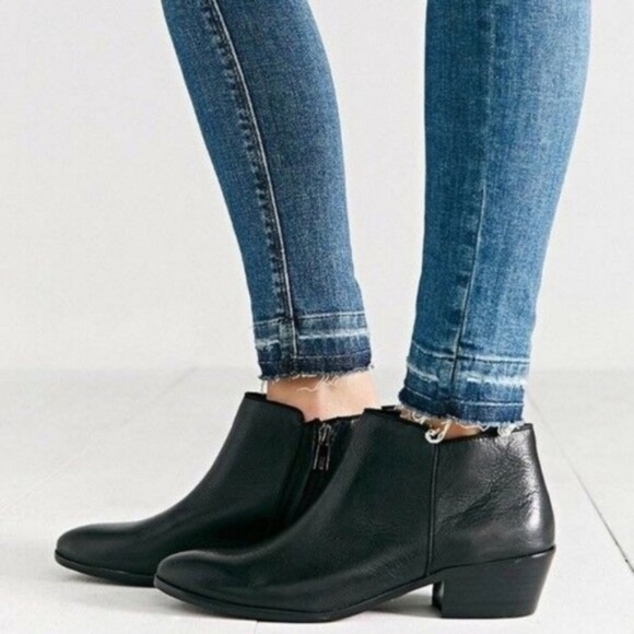 02694c016bd Sam Edelman Petty Ankle Boot ~ Black Leather NEW